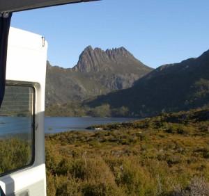 Camper vans are perfect for exploring Tasmania