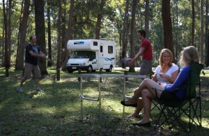 Enjoy many stunning camping areas when travelling in your motorhome
