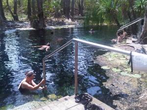 Campervan Hire at Mataranka Thermal Springs