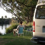 travelling in a self contained motorhome rental on the Snowy River