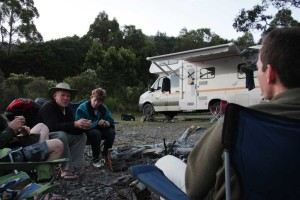 Beautiful freedom camping in Tasmania when travelling in a self contained campervan