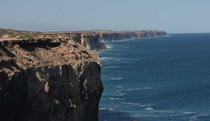 The stunning Bunda Cliffs while crossing the Nullarbor in a camper