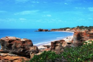 Coastal scenery near Broome in Western Australia