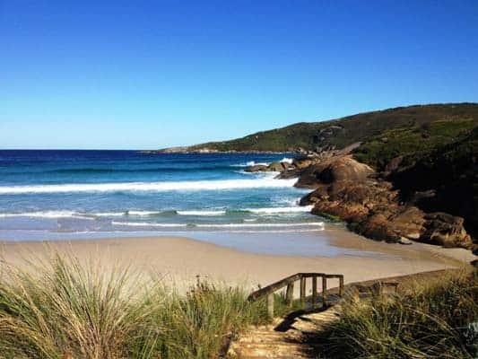 campervan hire perth beach sea water blue skies