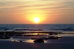Sunset at Cable Beach in Broome