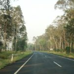 Driving in to Carnarvon Gorge