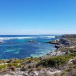 rottnest island coastline sea waves crashing uponcoast