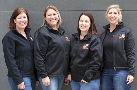 From left to right our office team is Belinda Mason (AKA Gallivanting Oz's chief guru), Nikki Lambourne, Angela Lautaimi and Rachelle Matheson.