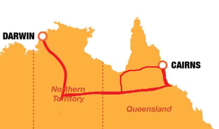 Cairns Darwin Map2
