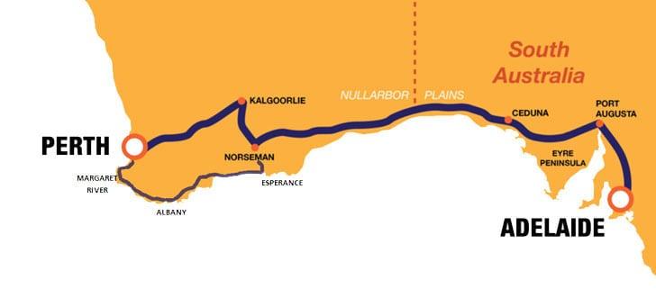 Perth Adelaide Map2