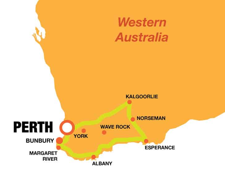 Perth South Western Map
