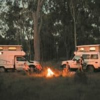campfire cooking, motorhome hire